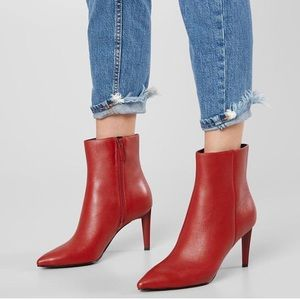 Candy Red Kendall & Kylie Genuine Leather booties